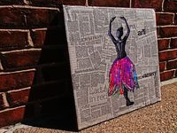 Ballerina on Newspaper